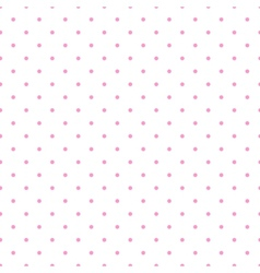 Tile pattern pink polka dots white background vector image
