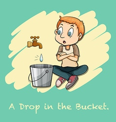 A drop in the bucket vector