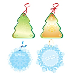 Xmas label vector