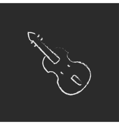 Cello icon drawn in chalk vector