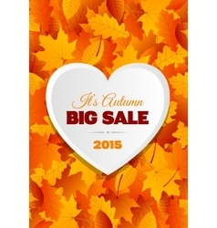 Big autumn sale flyer design vector