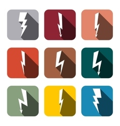 Icons lightning vector
