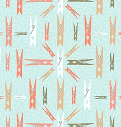 Clothespin retro seamless pattern shape background vector