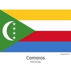 National flag of comoros with correct proportions vector