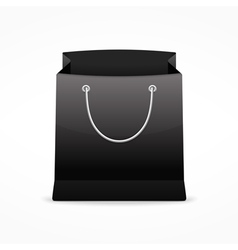Black shopping bag vector