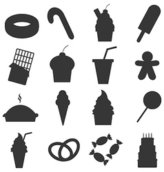 Food dessert icons set vector