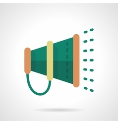Green megaphone flat color design icon vector