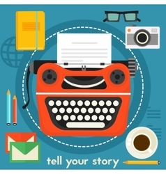 Tell your story concept vector