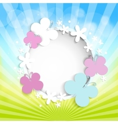 Abstract summer or spring background with vector