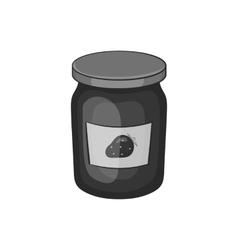 Bank strawberry jam icon black monochrome style vector image