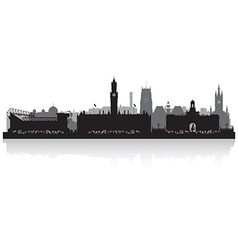 Bradfort city skyline silhouette vector