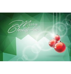 Christmas with red glass ball vector