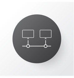 computer connection icon symbol premium quality vector image vector image