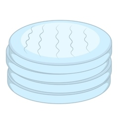 Cotton disc icon cartoon style vector