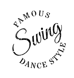 Famous dance style swing stamp vector