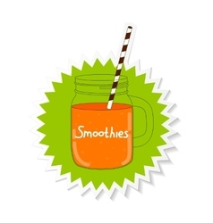 Fresh Smoothie Healthy Food vector image vector image