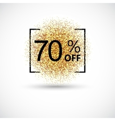 Gold sale 70 percent background vector