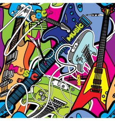 guitars background vector image vector image