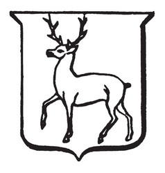 heraldry trippant have depicts a male deer vector image