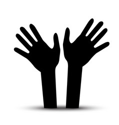 human hands palm hand symbol vector image vector image