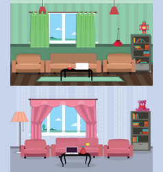 interior room of teenage boy and girl vector image vector image