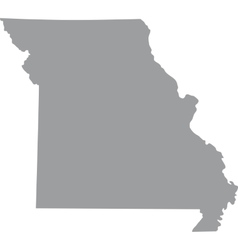 Map of the us state of missouri vector