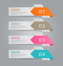 modern infographics colorful design vector image vector image