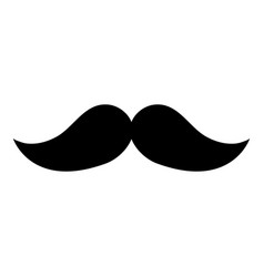 mustache mexican isolated icon vector image