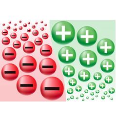 negative positive business attitude vector image vector image