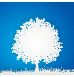 paper tree vector image vector image