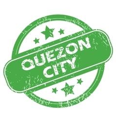 Quezon city green stamp vector
