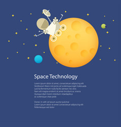 rover on the moon poster brochure vector image vector image