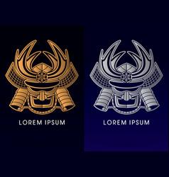 Samurai mask head vector