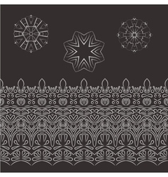 Set of patterned filigree hands and vector