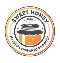 Sweet honey vintage isolated label vector