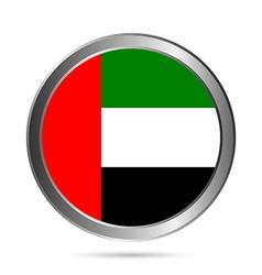 United Arab Emirates flag button vector image