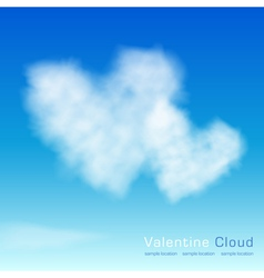 Valentine cloud on the sky background vector image