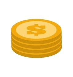 Coins money financial item graphic vector