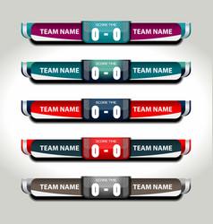 scoreboard football elements vector image