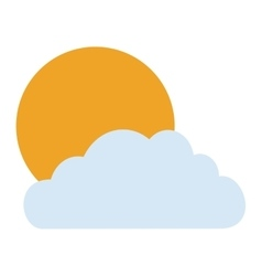 Isolated sun and cloud design vector