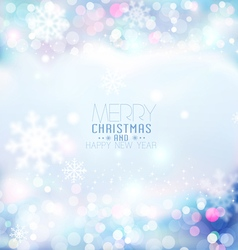 Christmas and new bright festive blue background vector