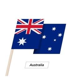 Australia ribbon waving flag isolated on white vector