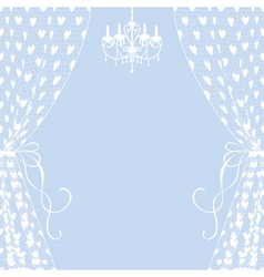 Curtains and chandelier vector