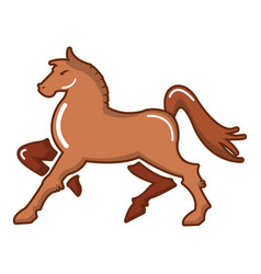 medieval knight horse icon cartoon style vector image