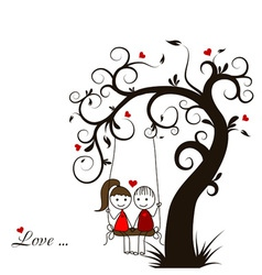 Love story card vector image