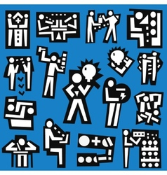 People  teamwork - set icons vector