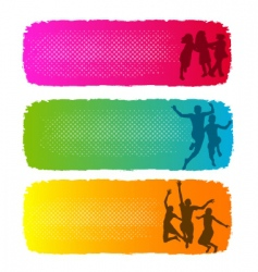children playing banners vector image