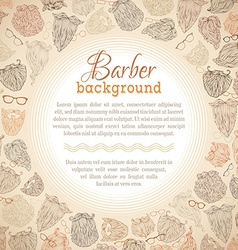 Hipster beards and eyeglasses background vector image