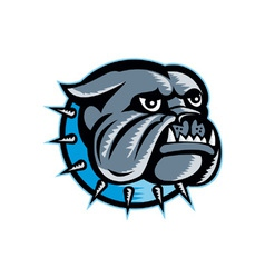 Bulldog dog head mascot vector