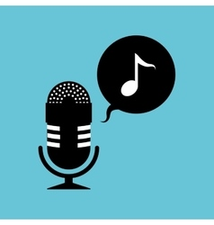 Music design microphone icon isolated vector